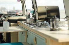 VW camper van interior kitchen