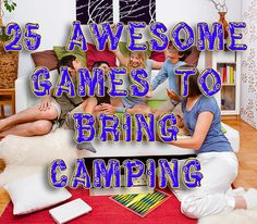 Camping & RVing tips, Best Games For Campings & RV trips - while your out on the campground check out these outdoor games and indoor games for kids & adults!