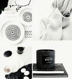 [via love nordic] Black And White Theme, Scandinavian Home, Interior Accessories, Danish Design, Beautiful Interiors, Color Themes, Home Deco, Color Inspiration, Colors
