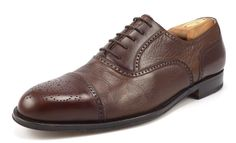 Bruno Magli Mens Shoes 10 M Charles Leather Cap Toe Oxfords Brown