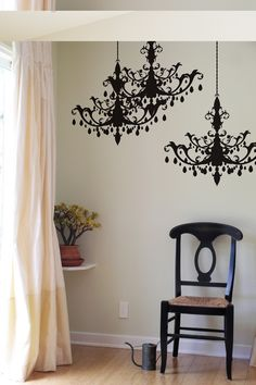 Blik Chandelier wall decals...and I thought the one I had from target was nice! Must buy!!