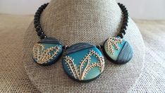 Striking Polymer Clay Necklace