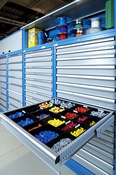 Make use of every inch with industry-leading storage cabinets from LISTA, customized for you to create the most productive work environment. Tool Storage Cabinets, Garage Tool Storage, Garage Storage Solutions, Workshop Storage, Lego Storage, Garage Tools, Garage Shop, Garage Workshop, Workshop Organization