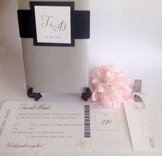 Invitación de la boda tarjeta de embarque por PaperieBloom en Etsy