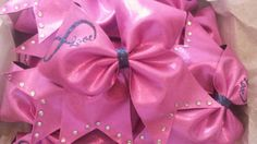 pink infinity cheer bow by TonTonsBows on Etsy