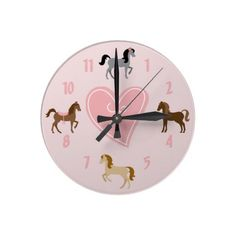 Pretty Pony Pink Wall Clock