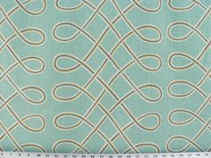 Turquoise/Blue Green Fabric, Blue Linen Rustic Fabric, Loops Fabric, Drapery/Upholstery/Home Decor Fabric, (1) Yard 36'' Length, 57'' Width