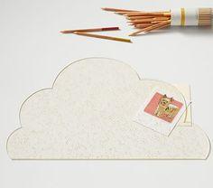 Acrylic Glitter Cloud Desk Blotters #pbkids