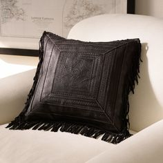 Ralph Lauren Home Pinyon Fringe Throw Pillow - ShopStyle Leather Pillow, Leather Cushions, Cute Dorm Rooms, Home Trends, Home And Deco, Shibori, Star Fashion, Steampunk Fashion, Gothic Fashion