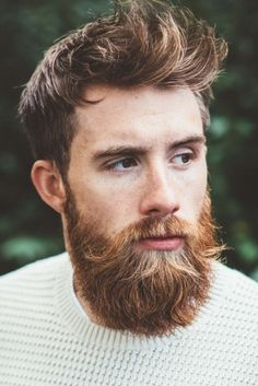 Kind of a blond ginger brownie beard. Great hair, too. // Tristan Harper