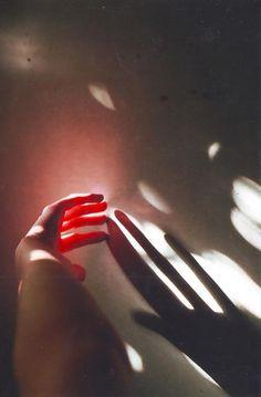 #light #red #hands #girls