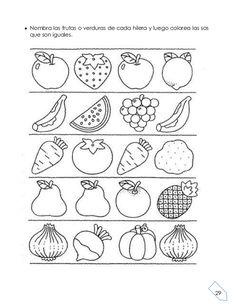 actividades con frutas y verduras para preescolar - Buscar con Google