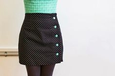 Polka dot Arielle skirt - sewing pattern from Tilly and the Buttons