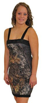 Jessica Camo Night Gown - $34.99 - Sweet and simple and in Mossy Oak, this camouflage nightgown is a pleasure to wear. Poly-spandex fabric has stretch and shine for a beautiful look. Lace accents at top and bottom. Elastic lace straps for comfort and eas of fit. Licensed Mossy Oak product. Made in USA. Camo Diva brand