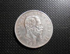 MONETA IN ARGENTO 5 LIRE 1876 R VITTORIO EMANUELE II