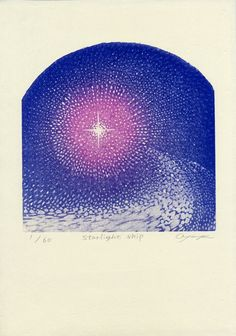 LC201717 小林文香 KOBAYASHI Ayaka  starlight ship 水性木版 17×17cm ED/60