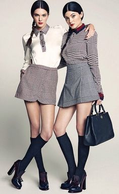 Kendall & Kylie Jenner wearing Tommy Hilfiger Fall '13 Collection
