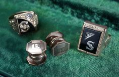 Rings and cuff links belonging to Bugsy Siegle  Mob Museum Artifacts | Flickr - Photo Sharing!