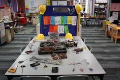 A tinkering 'maker-space' for students to take apart and reassemble gadgets. | www.sandyps.vic.edu.au