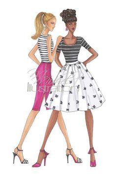 Fashion Illustration Print Best Dressed by MMichelIllustration
