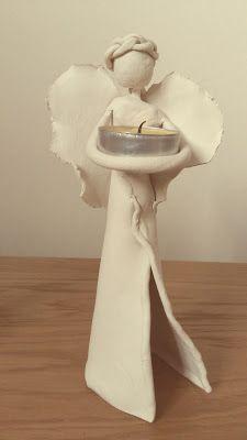 świecznik DIY- Anioły