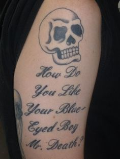 Inspired by the poem Buffalo Bill's, written by e.e. cummings, tattooed on the arm of author Harry Crews