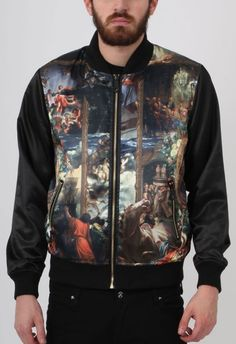 Criminal Damage Jacket - Artist Reversible Bomber Multi - BTJ109725MUL