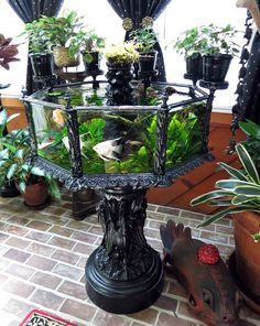 An antique cast-iron aquarium made by J. W. Fiske & Company in the 1880s, New York City - Wikipedia, the free encyclopedia