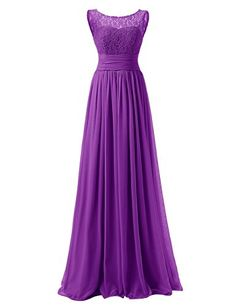 Dresstells® Long Prom Dress Scoop Bridesmaid Dress La…