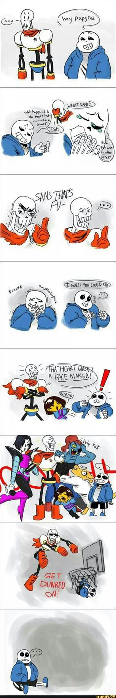 Sans just got dunked on by his own bro XD