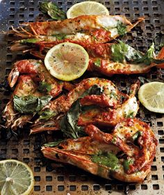 Peri Peri Prawns With Basil Butter This Per Peri Prawn Recipe From Braai Reuben On Fire By Reuben Riffel Quivertree Publications Is The Ultimate Summer Seafood Recipe Bbq Prawns, Spicy Prawns, Grilled Prawns, Prawn Dishes, Fish Dishes, Seafood Dishes, Seafood Bbq, King Prawn Recipes, Easy Grilled Shrimp Recipes