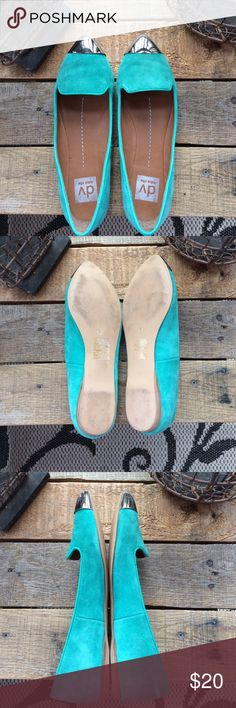 dv dolce vita teal suede flats with silver toes. 7 dv dolce vita teal suede flats with silver toes. Worn several times, but still look good. Size 7 dv dolce vita Shoes Flats & Loafers