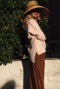 Heels – ASOS, Sweater – Zara, Skirt – Vintage, Hat – San Diego Hat Co.
