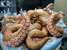 Cake Wrecks -  Sunday Sweets: Tasty Tentacles! Made by Highland Bakery. I would swear this was a real octopus.