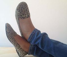 Leopard Slip Shoes