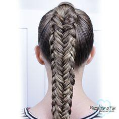 Twisted Edge Fishtail Braid : Pretty Hair is Fun Soccer Hairstyles, Cool Braid Hairstyles, Short Hair Updo, Up Hairstyles, Pretty Hairstyles, Pretty Braids, Cool Braids, Short Hair Styles Easy, Braid Tutorials