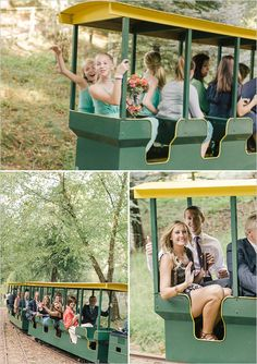 Train ride from ceremony to reception. #weddingtransportation #weddingtrain #weddingchicks Transportation By: Nestldown ---> http://www.weddingchicks.com/2014/05/07/amazing-floral-ideas/