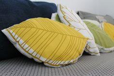 Cojines hoja / Leaf cushions