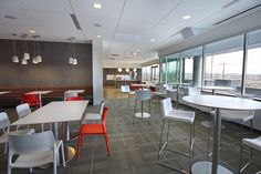 Communal lunch area. It transforms into a training space & also opens into an outside patio.