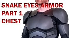 Snake Eyes GI Joe Retaliation How To DIY Part 1 Foam Armor - Chest and A...