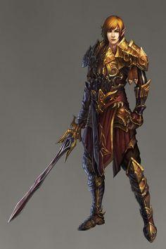 Elf Fighter Warrior - Pathfinder PFRPG DND D&D d20 fantasy