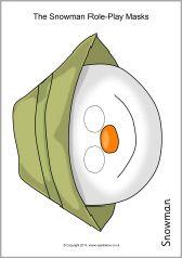 The Snowman role-play masks (SB11050) - SparkleBox