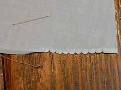 Hand stitched shell hem by Jeannie B.