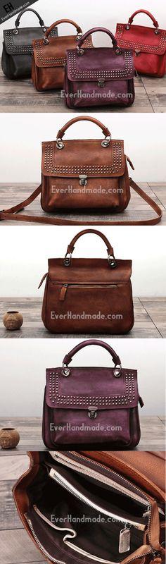 Handmade Leather phone bag handbag purse for women leather