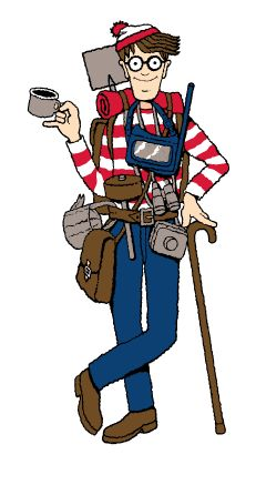 Where's Waldo! This basterd never made it easy! Haha.