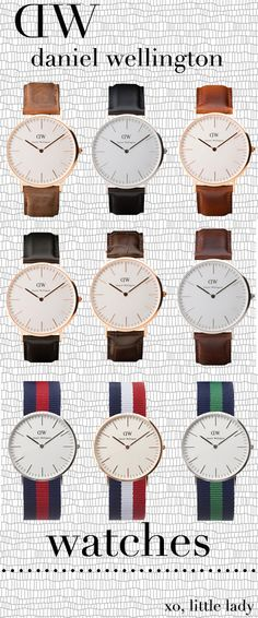 daniel wellington. #watches Can't WAIT!  These watches are coming to Walker Boutique in July, 2015!  Check them out on Instagram!