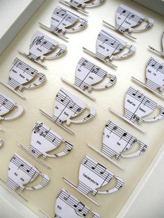 "Cute idea! A custom made design originally given for a 30th Birthday present between friends that loved the tv show 'Friends'.  The coffee cups feature the lyrics to the theme song 'I'll be there for you"" and are mounted on a latte background. $160"