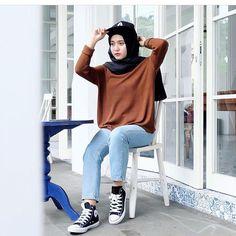Style Hijab Dengan Celana Jeans