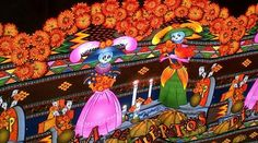 Day of the dead, table cloth, home decor, oilcloth,  tablecloth, mexican,dia de muertos, table setting - FREE SHIPPING. $24.50, via Etsy.