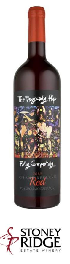 Tragically Hip wine. Fully Completely. Awesome. Food For Thought, Red Wine, My Favorite Things, Alcoholic Drinks, Awesome, Glass, Drinkware, Corning Glass, Liquor Drinks